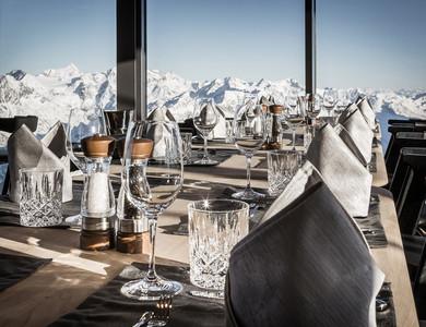 Aussicht vom Panoramarestaurant am Gaislachkogl