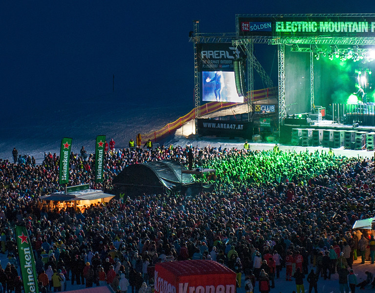 David Guetta in Sölden live beim Electric Mountain Festival