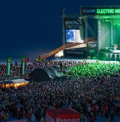 David Guetta in Sölden live beim Electric Mountain Festival